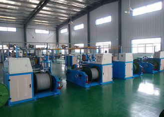 China High Efficiency Wire Extruder Machine Composed Of Pay Off / Straightening Machine supplier