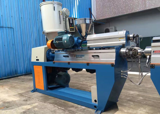 China Fully Automatic XLPE Wire Extruder Machine With Caterpillar / Take Up Machine factory