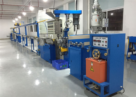 China Extruding Usage Pvc Cable Manufacturing Machine With Wire Take Up Machine. factory